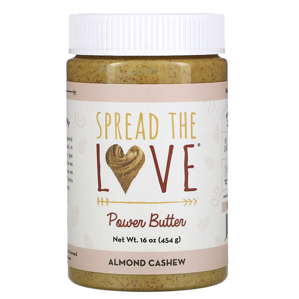 Spread The Love, Power Butter, Almond Cashew, 16 oz ( 454 g)