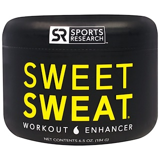 Sports Research, Sweet Sweat Workout Enhancer, 6.5 oz (184 g)