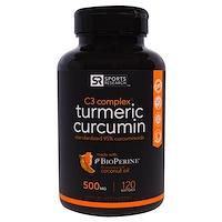 Комплекс с Куркумином C3, 500 мг, 120 Желатиновых Капсул, - фото
