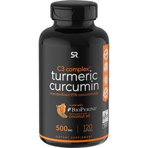 Спортс Ресерч, Turmeric Curcumin, C3 Complex, 500 mg, 120 Softgels отзывы покупателей