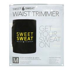 Sports Research, Sweet Sweat Waist Trimmer، متوسط ، أسود وأصفر ، حزام واحد