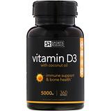 Отзывы о Sports Research, Витамин D3 с Органическим Кокосовым Маслом, 5000 МЕ, 360 Желатиновых Капсул