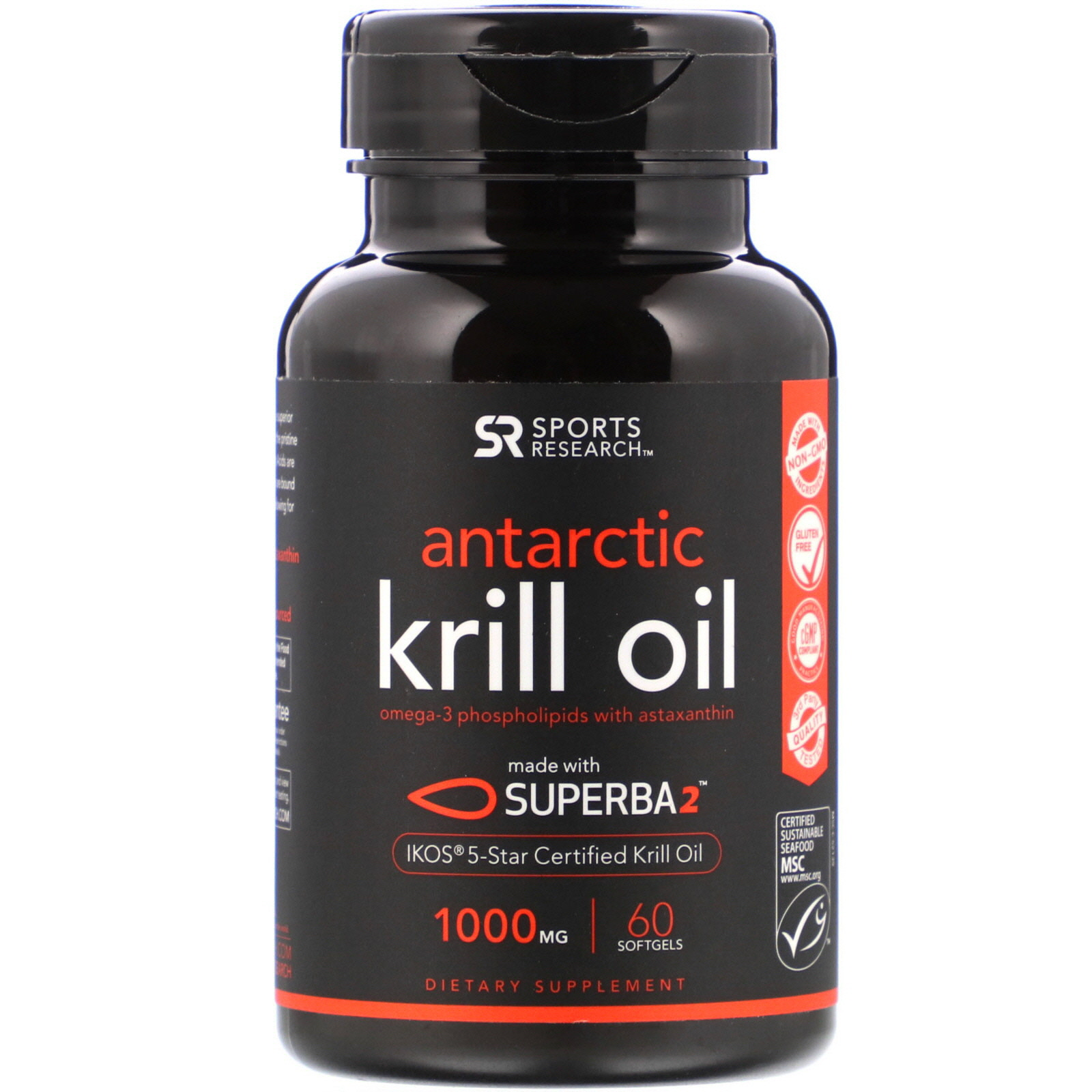 Sports Research, Antarctic Krill Oil with Astaxanthin, 1,000 mg ...