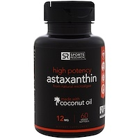 Sports research high potency astaxanthin 12 mg 60 for Fish oil with astaxanthin