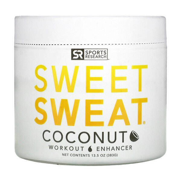 Sports Research, Améliorateur d'entraînement Sweet Sweat, Noix de coco, 13,5oz (383g)