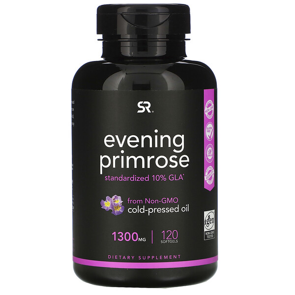 Sports Research, Evening Primrose, 1,300 mg, 120 Softgels
