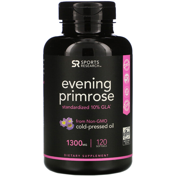 Evening Primrose, 1,300 mg, 120 Softgels