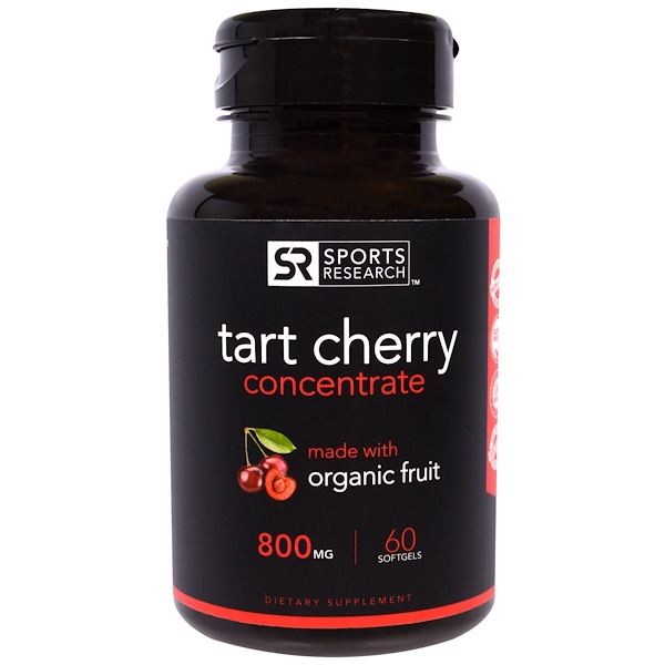 Tart Cherry Concentrate, 800 mg, 60 Softgels