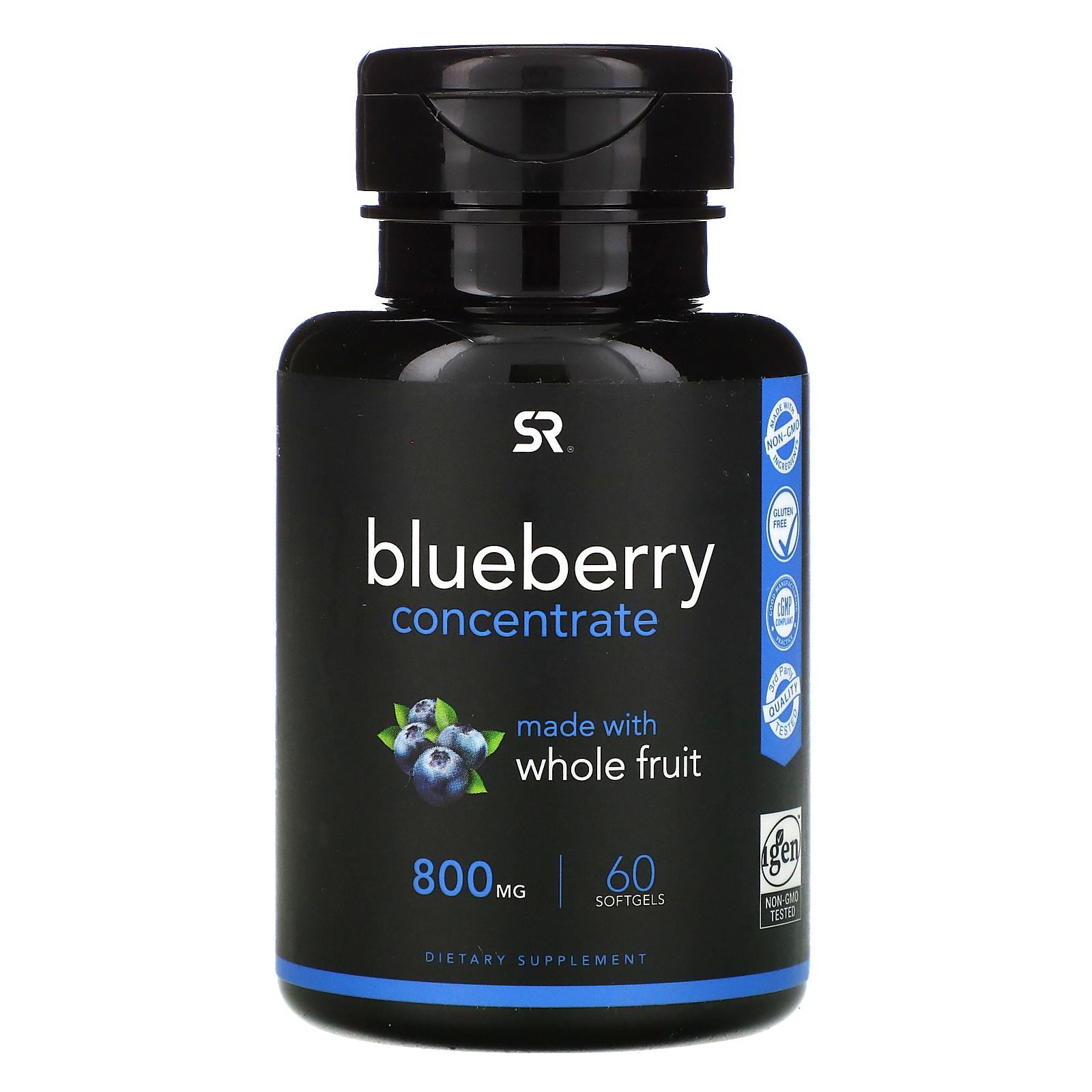 Sports Research, 藍莓濃縮物,800 毫克,60 粒軟凝膠