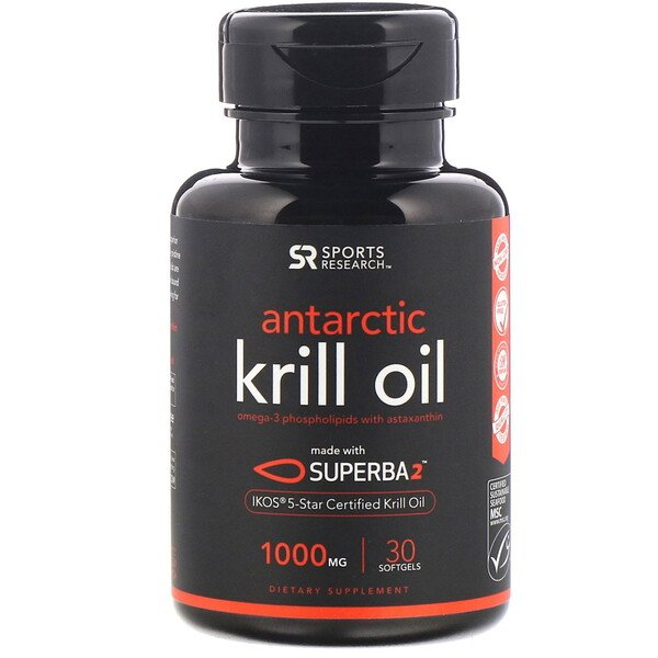 SUPERBA 2 Antarctic Krill Oil with Astaxanthin, 1,000 mg, 30 Softgels