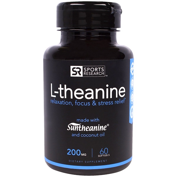 Sports Research, L-theanine, 200 mg, 60 Softgels