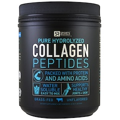 Sports Research, Collagen Peptides, Grass Fed, Unflavored, 16 oz (454 g)