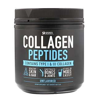 Sports Research, Collagen Peptides, Unflavored, 16 oz