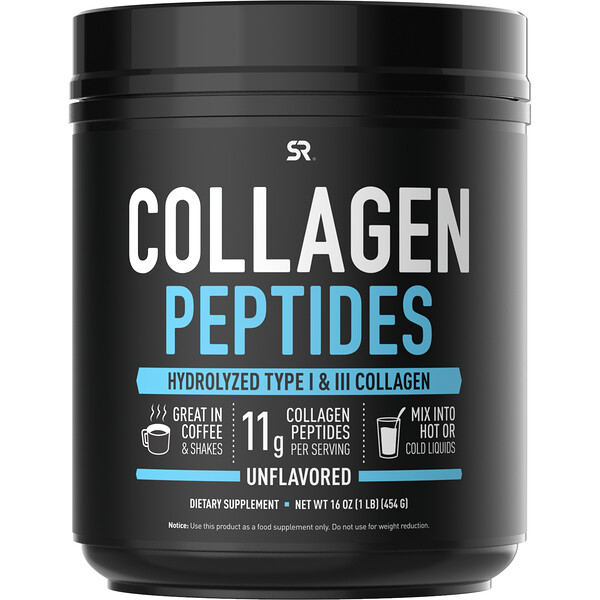 Collagen Peptides, Unflavored, 16 oz (454 g)
