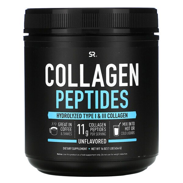 Sports Research, Peptides de collagène, Non aromatisés, 454 g