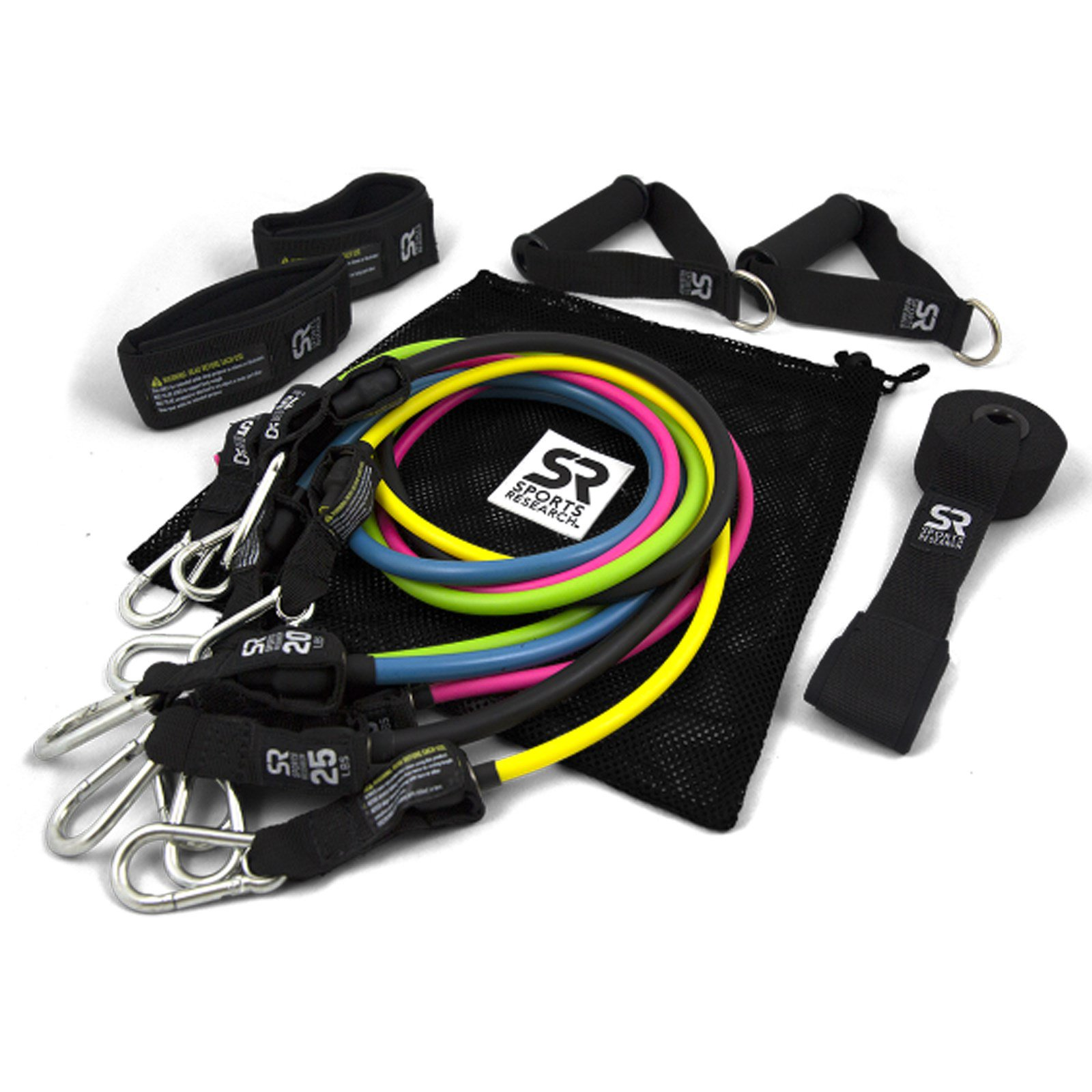 Exercise Bands Names: Sports Research, Performance Resistance Bands, 5 Bands