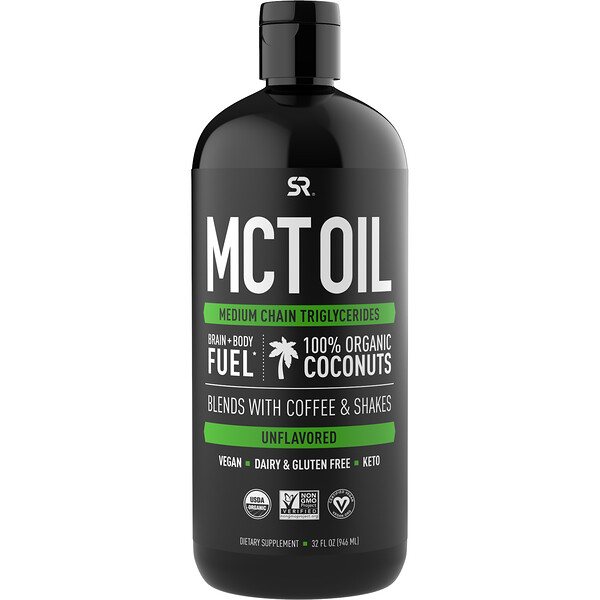 MCT Oil, Unflavored, 32 fl oz (946 ml)