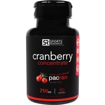 Купить Клюквенный Концентрат, 250 мг, 90 Желатиновых капсул