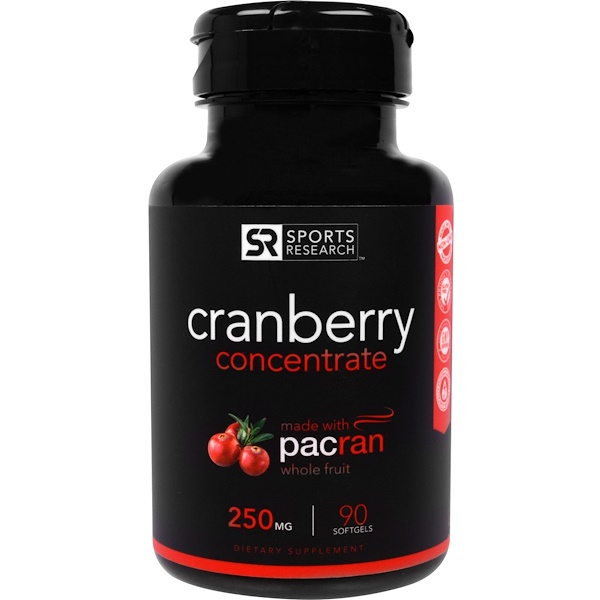 Sports Research, Concentrado de arándanos, 250 mg, 90 cápsulas blandas