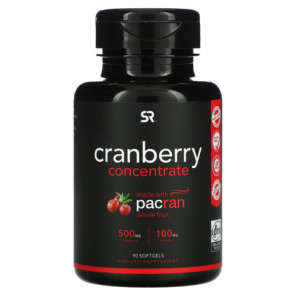 Cranberry Concentrate, 250 mg, 90 Softgels