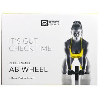 Sports Research, 功能Ab腹肌滑輪+含膝墊