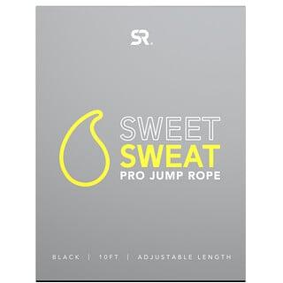 Sports Research, Sweet Sweat Prop 跳繩,黑色,1 根
