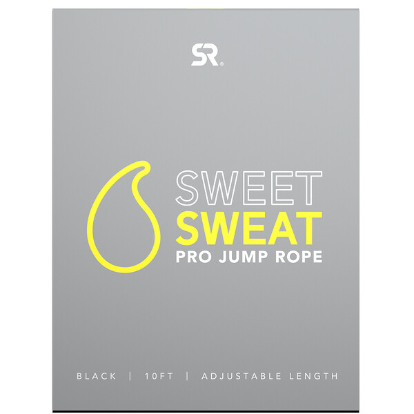 Sweet Sweat Pro Jump Rope, Black, 1 Jump Rope