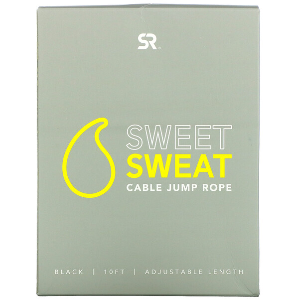 Sweet Sweat Cable Jump Rope, Black, 10 ft, 1 Jump Rope