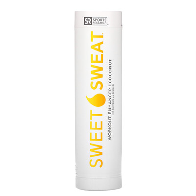 Sports Research Sweet Sweat, интенсификатор для тренировок, кокос, 182г (6,4унции)