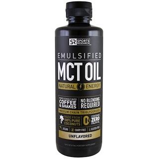 Sports Research, Emulsionado, aceite de MCT, sin saborizantes, 16 fl. Oz (473 ml)
