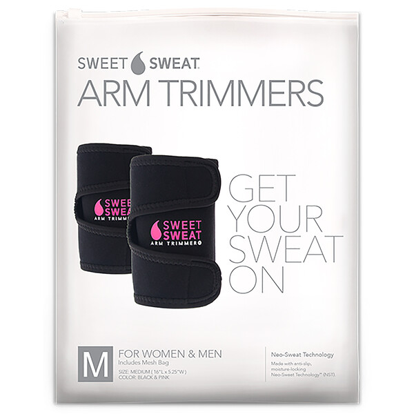 Sweet Sweat Arm Trimmers, Unisex-Regular, Pink, 1 Pair