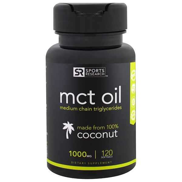 MCT Oil, 1,000 mg, 120 Softgels