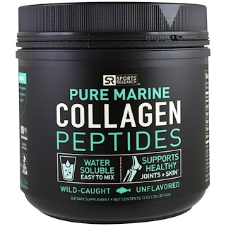 Sports Research, Wild-Caught, Pure Marine Collagen Peptides, Unflavored, 12 oz (340 g)