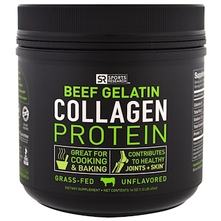 Sports Research, Beef Gelatin Collagen Protein, Unflavored, 16 oz (454 g)