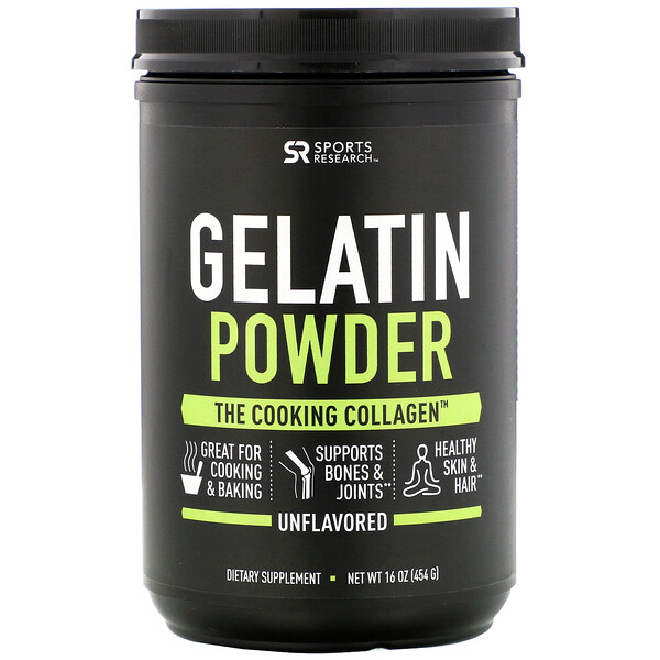 Gelatin Powder, Unflavored, 16 oz (454 g)