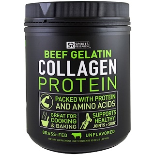 Sports Research, Beef Gelatin Collagen Protein, Unflavored, 32 oz (907 g)