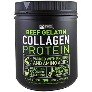 Спортс Ресерч, Beef Gelatin Collagen Protein, Unflavored, 2 lbs (907 g) отзывы