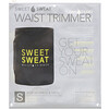 Sports Research, Sweet Sweat Waist Trimmer, Small, Black & Yellow, 1 Belt