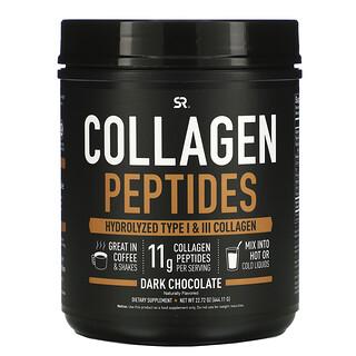 Sports Research, 胶原蛋白肽,水解I和III型胶原蛋白,黑巧克力,22.72盎司(644.11克)