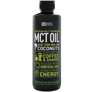 Sports Research, Aceite MCT, sin sabor, 16 oz (473 ml)