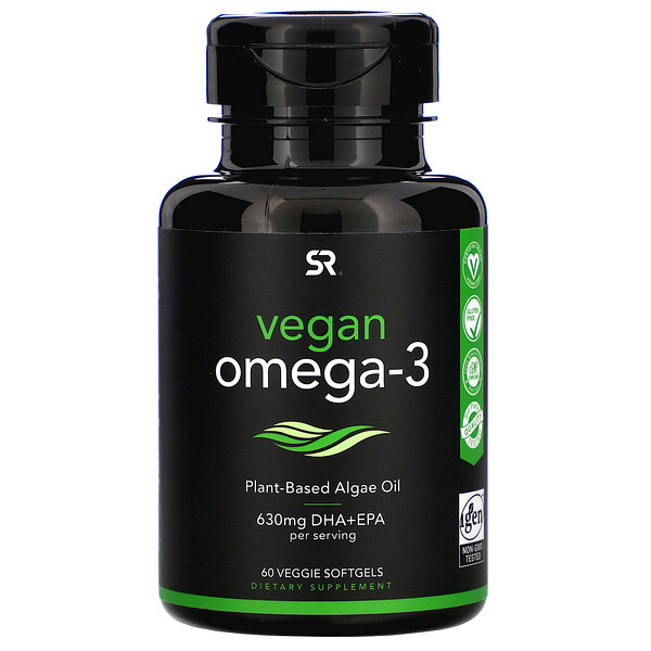 Sports Research, Vegan Omega-3, 60 Veggie Softgels