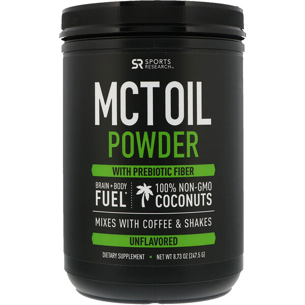 MCT Oil Powder with Prebiotic Fiber, Unflavored, 8.73 oz (247.5 g)