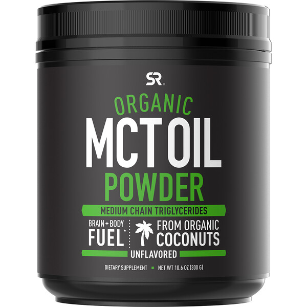 Organic MCT Oil Powder, Unflavored, 10.6 oz (300 g)