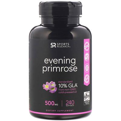 Купить Sports Research Evening Primrose, 500 mg, 240 Softgels