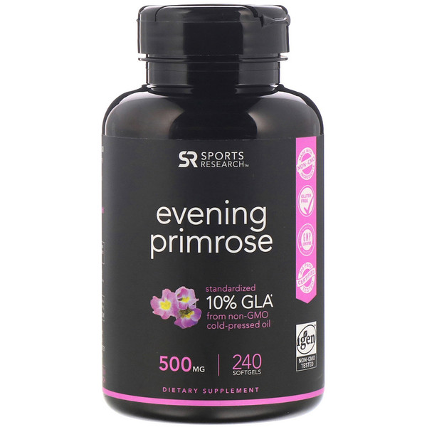 Evening Primrose, 500 mg, 240 Softgels