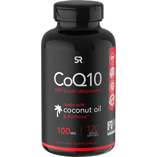 Sports Research, CoQ10 with BioPerine & Coconut Oil, 100 mg, 120 Veggie Softgels