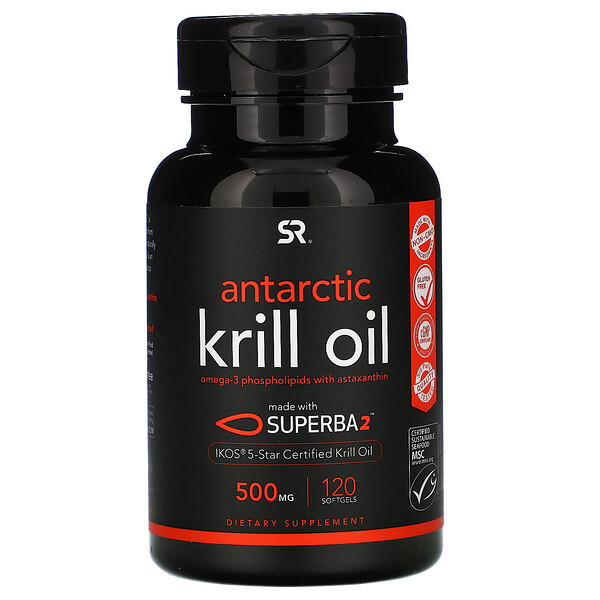 Antarctic Krill Oil with Astaxanthin, 500 mg, 120 Softgels