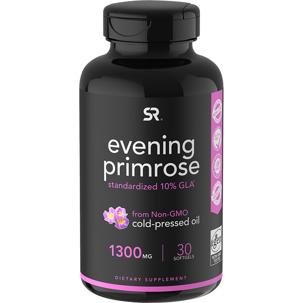 Sports Research, Evening Primrose, 1,300 mg, 30 Softgels
