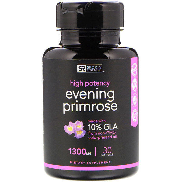 Sports Research, Evening Primrose Oil, 1300 mg, 30 Softgels