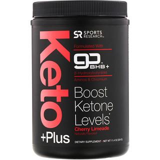 Sports Research, Keto Plus, goBHB, Cherry Limeade, 11.4 oz (324 g)